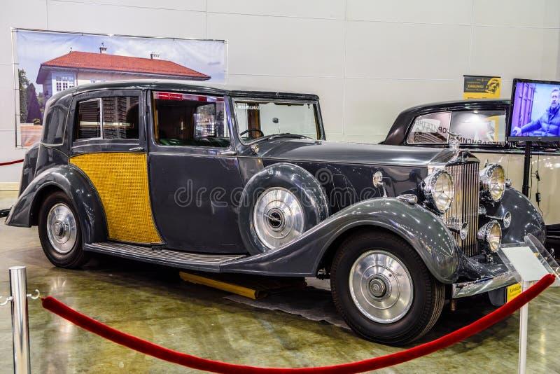 MOSCOU - EM AGOSTO DE 2016: Rolls-Royce Phantom III 1937 apresentou em MIAS Moscow International Automobile Salon o 20 de agosto  imagem de stock royalty free