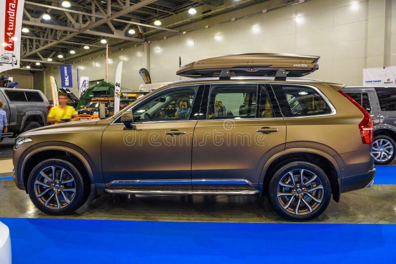 MOSCOU - EM AGOSTO DE 2016: Volvo XC-90 apresentou em MIAS Moscow International Automobile Salon o 20 de agosto de 2016 em Moscou imagem de stock royalty free