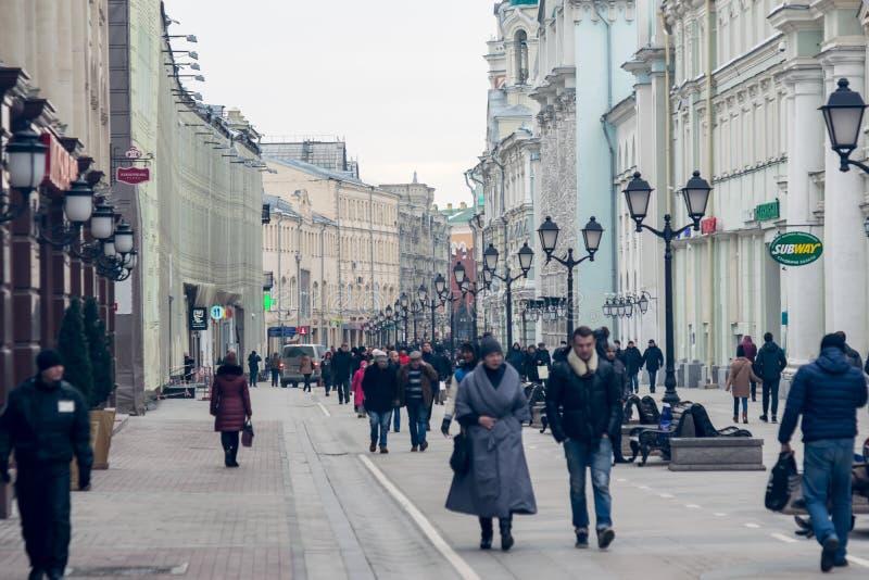 Moscou em fevereiro de 2016 fotos de stock