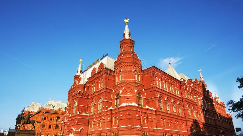 Moscou, Federação Russa - 27 de agosto de 2017: Kremlin - vermelho foto de stock