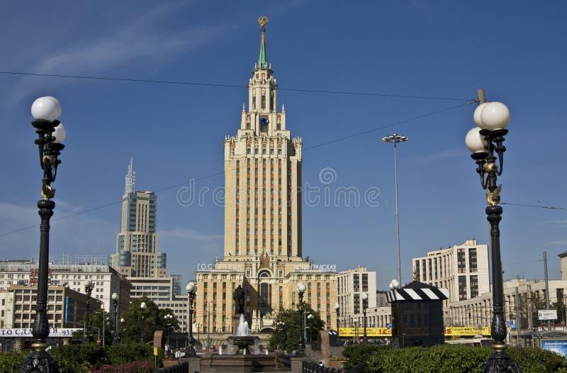 Moscou, hotel Leningradskaya Hilton fotografia de stock royalty free