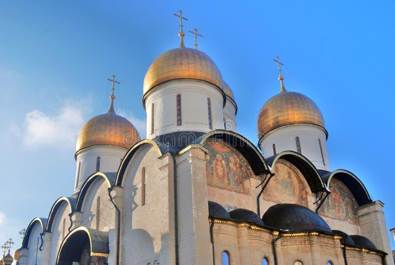 Moscou Kremlin Photo couleur Cathédrale de Dormition photographie stock