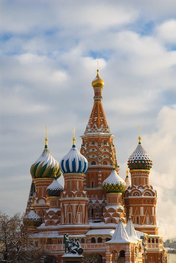 Moscou. La cathédrale du basilic de saint photos stock
