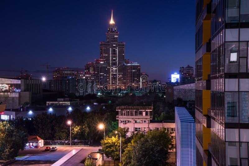 Moscou la nuit images stock