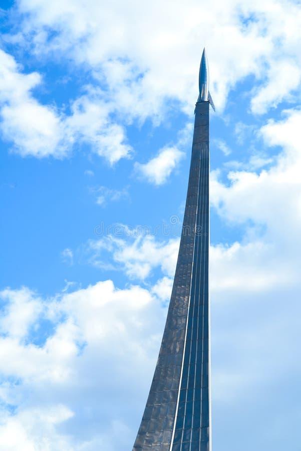 MOSCOU - 9 MAI 2017 : Monument aux conquérants de l'espace à Moscou, Russie C'était construction en 1964 pendant des périodes sov photos stock