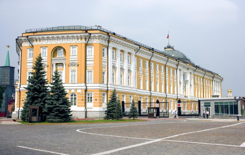 Moscou, o Kremlin, o Senado de Rússia foto de stock