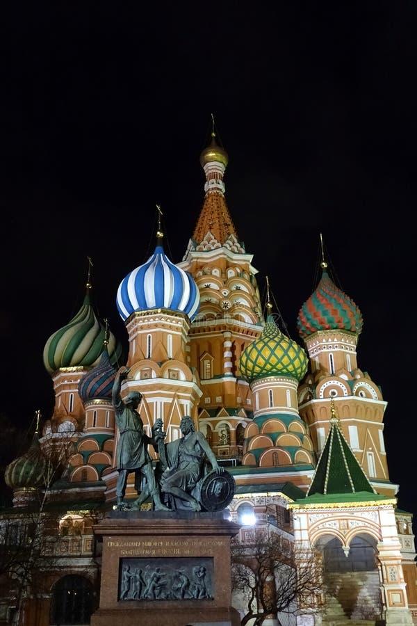 Moscou, place rouge, cathédrale de basilic de St photos libres de droits