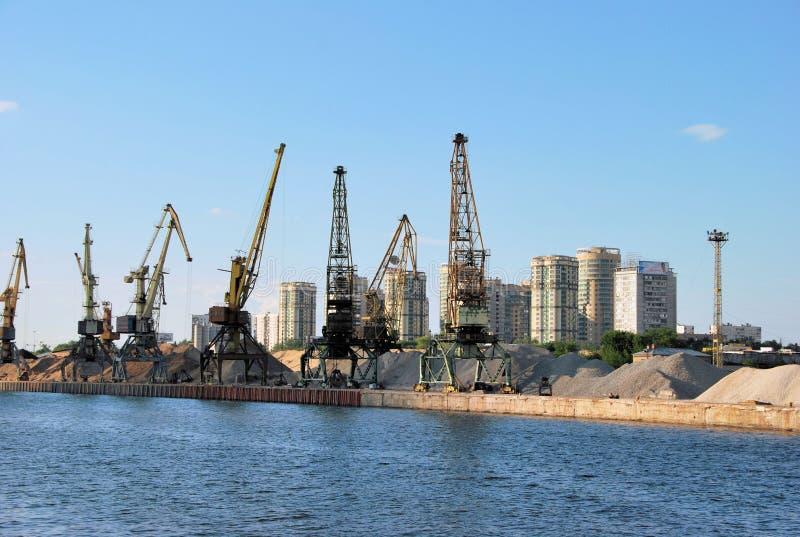 Moscou. Port nordique de cargaison de fleuve. image libre de droits