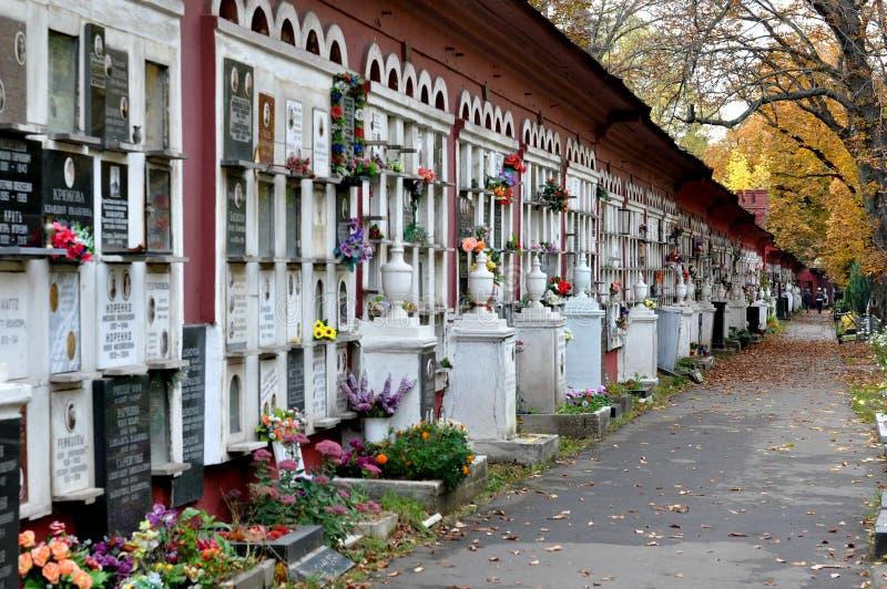 MOSCOU, RÚSSIA - cemitério de Novodevichy imagens de stock