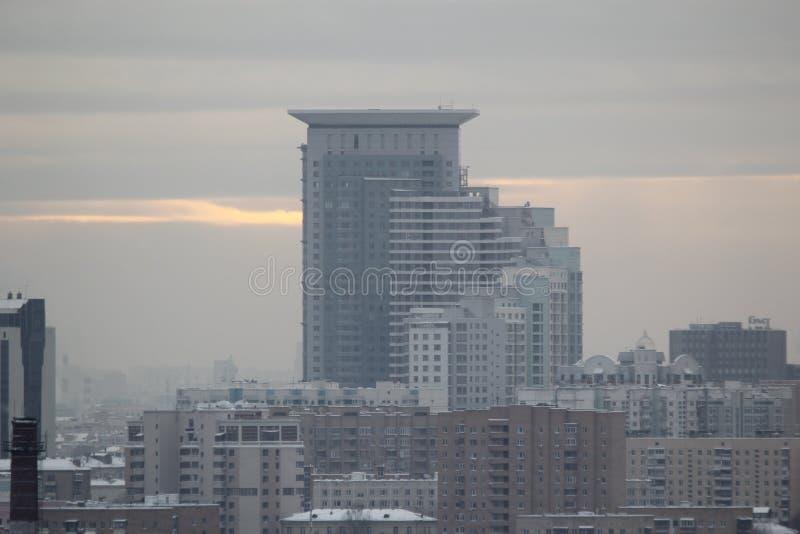 Moscou, Rússia 23 de julho de 2017: Centro de negócios imagem de stock
