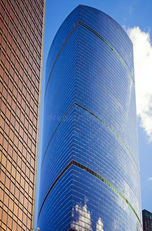 Moscou, Rússia 7 de julho de 2018: A construção do centro de negócios da cidade de Moscou Arquitetura moderna fotografia de stock royalty free