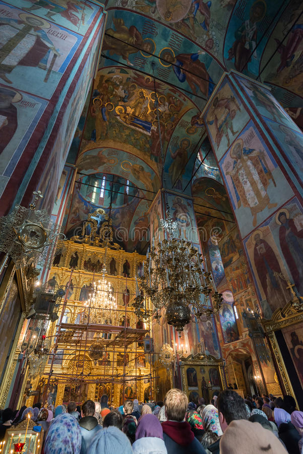 Moscou, Rússia 28 de março de 2015 Um ortodox do russo fotos de stock