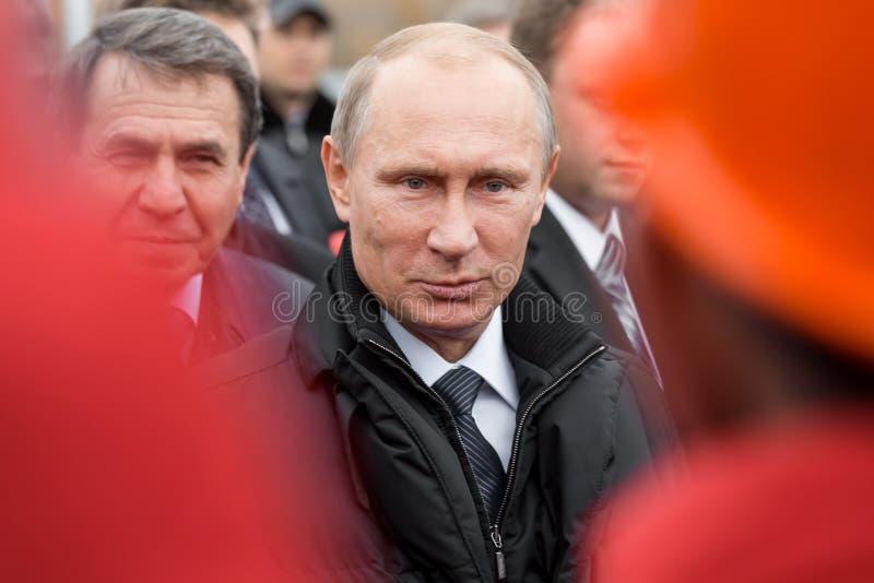 Moscou, Rússia - 24 de novembro de 2015: Vladimir Putin fotografia de stock