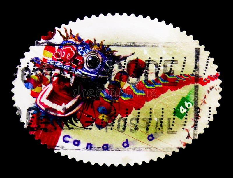 MOSCOU, RÚSSIA - 24 DE NOVEMBRO DE 2017: Um selo impresso em Canadá sh imagens de stock