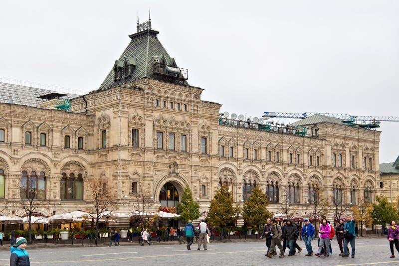 MOSCOU, RÚSSIA - 6 DE OUTUBRO DE 2016: A construção eclético do armazém do estado da GOMA no quadrado vermelho foto de stock