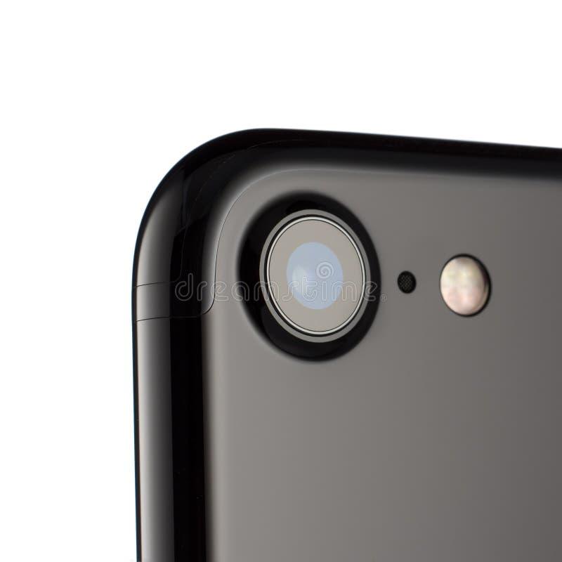 MOSCOU, RÚSSIA - 18 DE OUTUBRO DE 2016: A foto do iPhone 7 da câmera é a imagens de stock royalty free