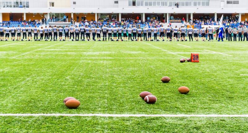 MOSCOU, RÚSSIA - 6 DE SETEMBRO DE 2015: Estádio do rugby da escola dos esportes da reserva olímpica? 111 imagens de stock