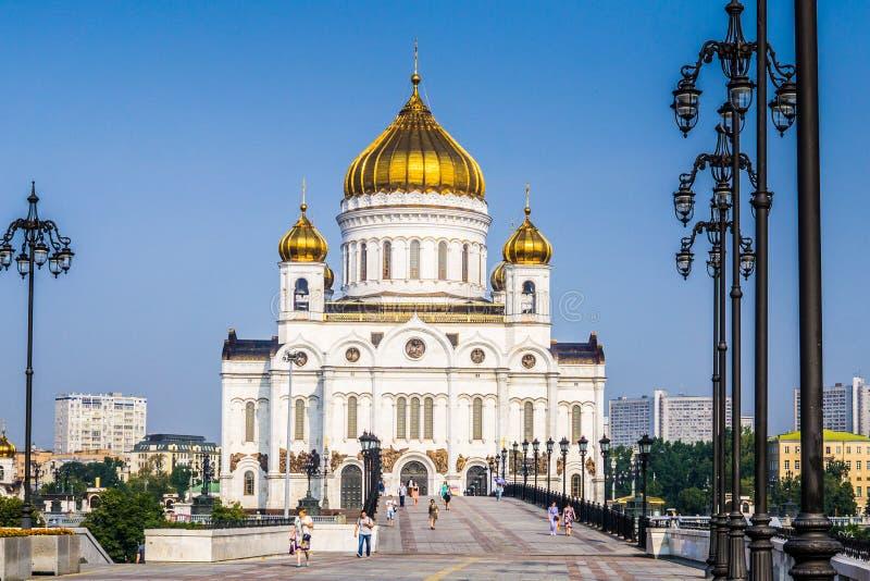 Moscou, Rússia - em julho de 2016 A catedral de Christ o salvador fotografia de stock