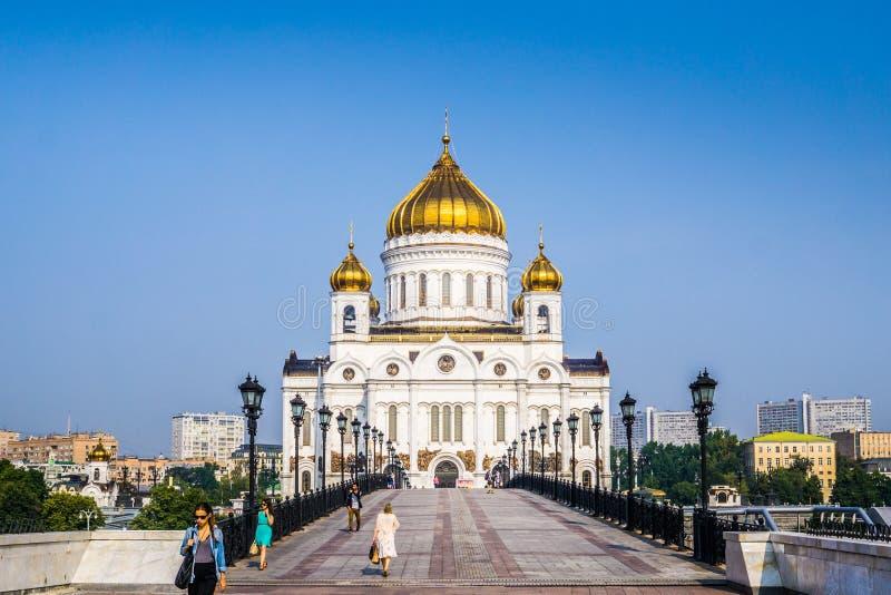 Moscou, Rússia - em julho de 2016 A catedral de Christ o salvador imagem de stock