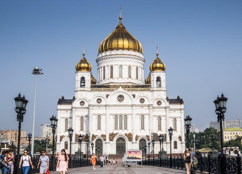 Moscou, Rússia - em julho de 2016 A catedral de Christ o salvador fotos de stock