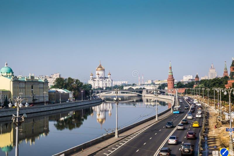 Moscou, Rússia - em julho de 2016 Vista panorâmico a Moscovo Kremlin foto de stock