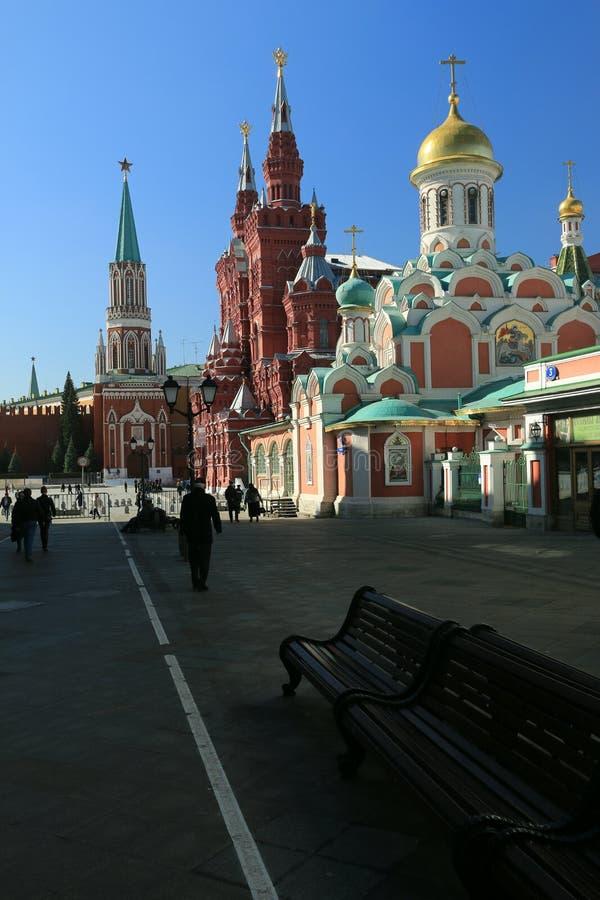 Moscou, rue de Nikolskaya images libres de droits