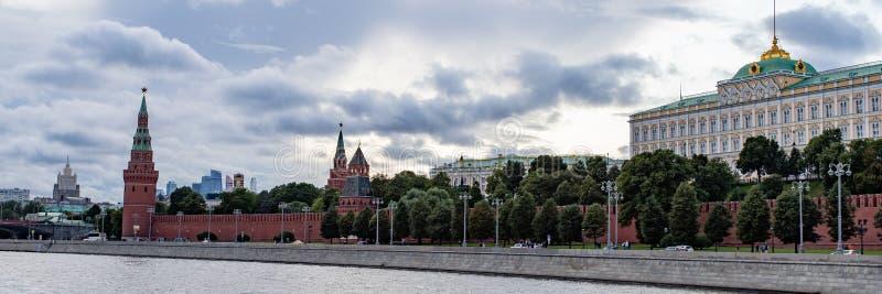 Moscou, Russie - 6 août 2019 : vue de Moscou Kremlin et le remblai Architecture et vues de Moscou images libres de droits