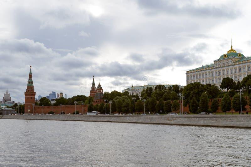 Moscou, Russie - 6 août 2019 : vue de Moscou Kremlin et le remblai Architecture et vues de Moscou photo libre de droits