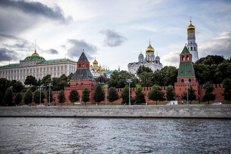 Moscou, Russie - 6 août 2019 : vue de Moscou Kremlin et le remblai Architecture et vues de Moscou image stock