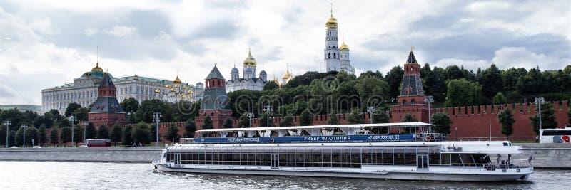 Moscou, Russie - 6 août 2019 : vue de Moscou Kremlin et le remblai Architecture et vues de Moscou images stock