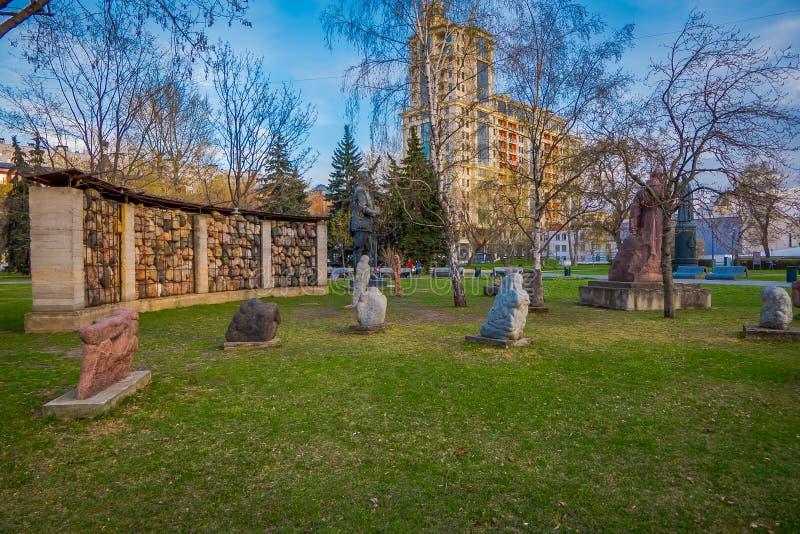 MOSCOU, RUSSIE - 2 AOÛT 2008 : Vue de monument avec des portraits des citoyens de Georgievsk qui ont combattu dans le deuxième mo photo libre de droits