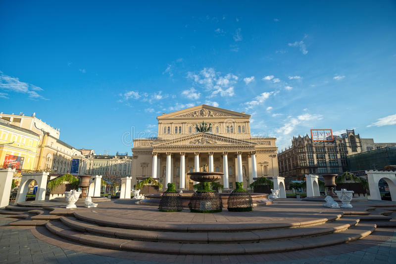 MOSCOU, RUSSIE 19 août : Le théâtre de Bolshoi un théâtre historique photo stock