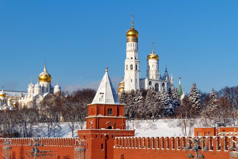 Moscou, Russie - 1er février 2018 : Cathédrale d'Arkhangel à Moscou Kremlin au matin ensoleillé d'hiver photos stock