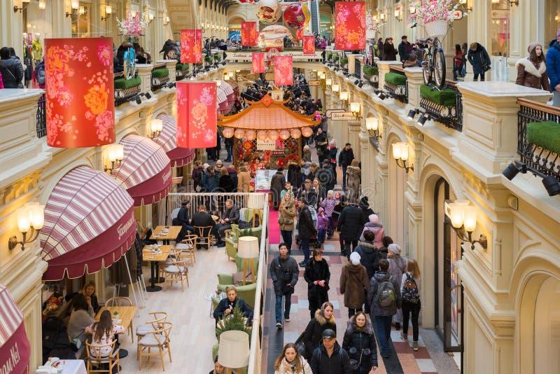Moscou, Russie - 11 février 2018 Décoration de fête pendant la nouvelle année chinoise dans la gomme de magasin photo stock