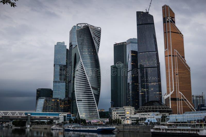 Moscou, Russie - juillet 2016 Gratte-ciel de centre d'affaires de ville de Moscou photos libres de droits