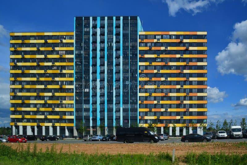 Moscou, Russie - 6 juin 2018 Novyy Zelenograd est complexe résidentiel moderne à Moscou photos stock