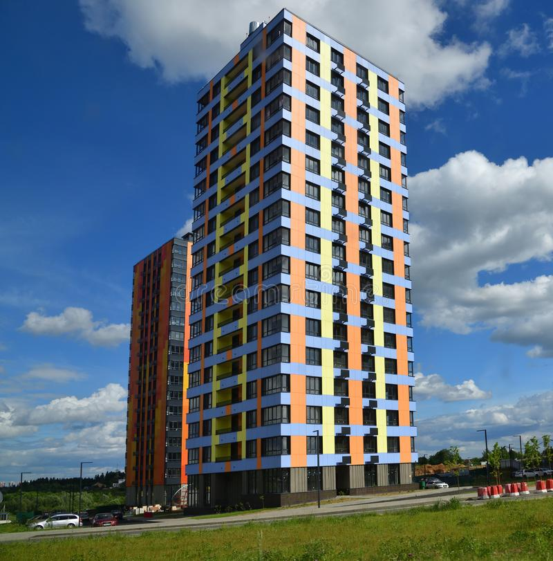 Moscou, Russie - 6 juin 2018 Novyy Zelenograd est complexe résidentiel moderne à Moscou image libre de droits