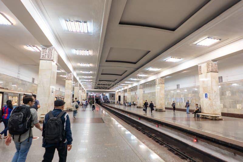 "Moscou, Russie - juin, 23,2018 : Station de métro de Komsomol ""skaya photo libre de droits"