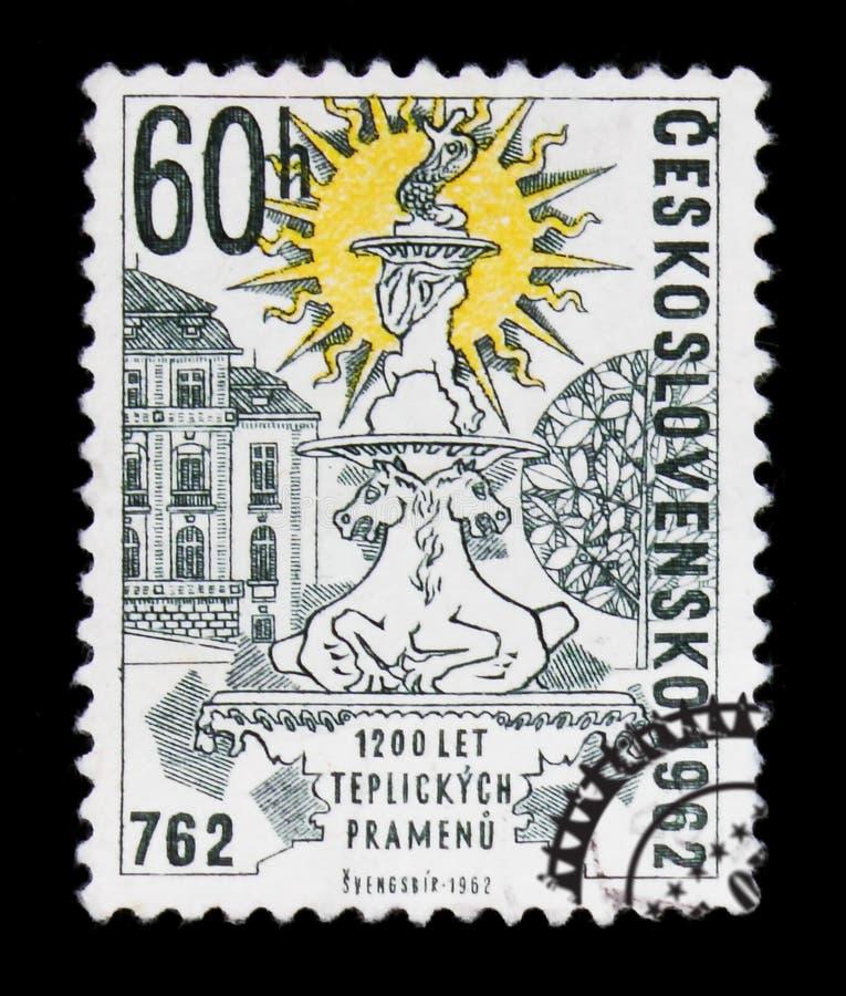 MOSCOU, RUSSIE - 20 JUIN 2017 : Un timbre imprimé dans Czechoslovaki image libre de droits