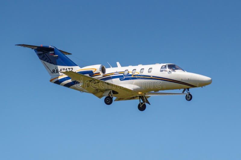 Moscou, Russie - 19 mai 2019 : Citation CJ1 RA-67172 de Cessna 525 d'avions de l'atterrissage de ligne a?rienne de Jet Travel Clu photographie stock