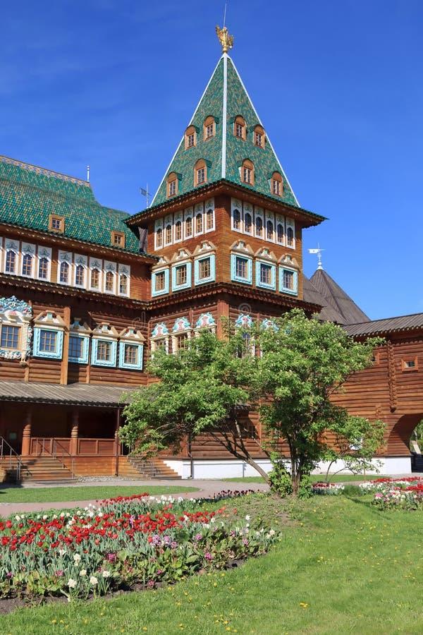 Moscou, Russie - 11 mai 2018 : Palais de tsar Alexei Mikhailovich dans le style de la reconstruction du siècle XVII photo libre de droits