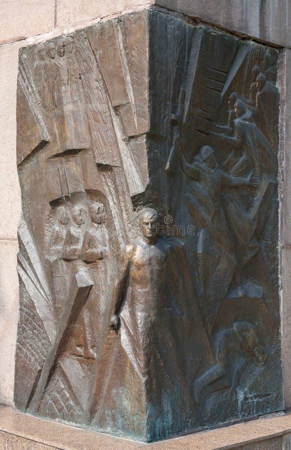 Moscou, Russie Monument aux volontaires tombés de 13 et 6 divisions de la milice du ` s de personnes image stock