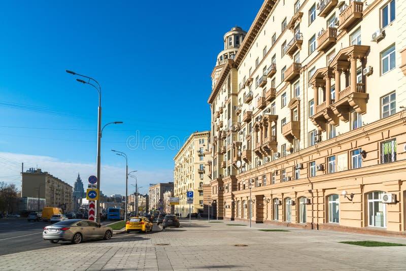 Moscou, Russie - 2 novembre 2017 Malaya Sukharevskaya - une partie d'anneau de jardin image stock