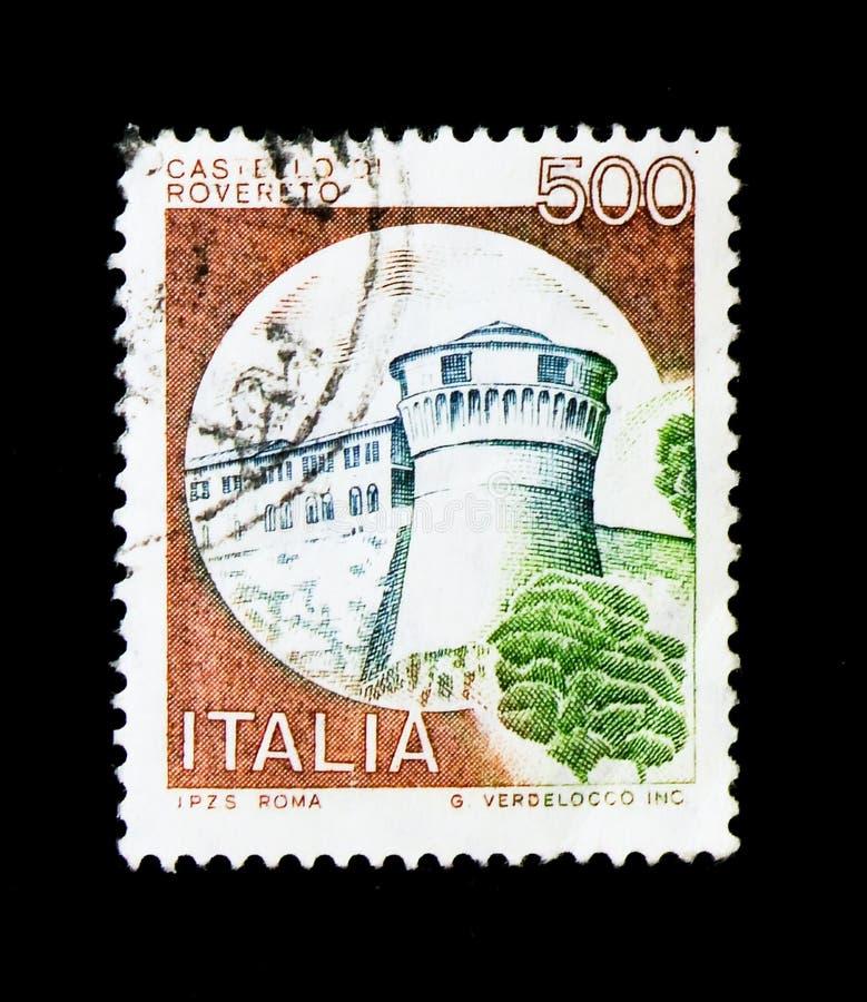 MOSCOU, RUSSIE - 24 NOVEMBRE 2017 : Un timbre imprimé dans le sho de l'Italie photographie stock