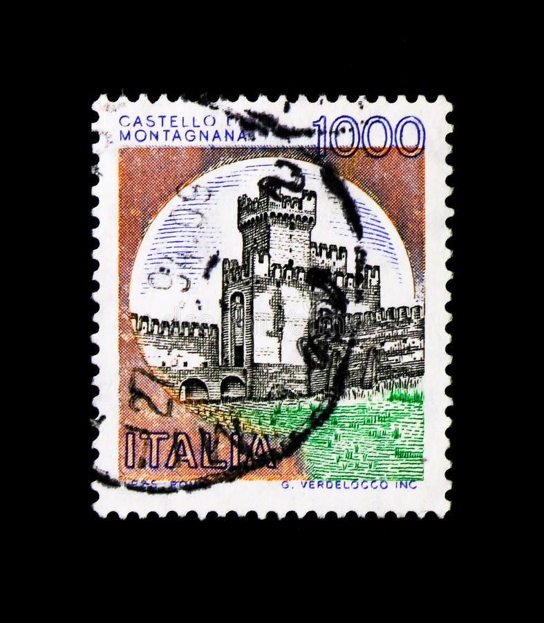 MOSCOU, RUSSIE - 24 NOVEMBRE 2017 : Un timbre imprimé dans le sho de l'Italie photos stock
