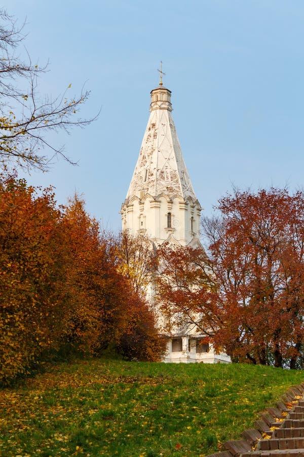 MOSCOU, RUSSIE - 17 OCTOBRE 2017 : Église de l'ensemble d'ascension du domaine Kolomenskoe photographie stock libre de droits