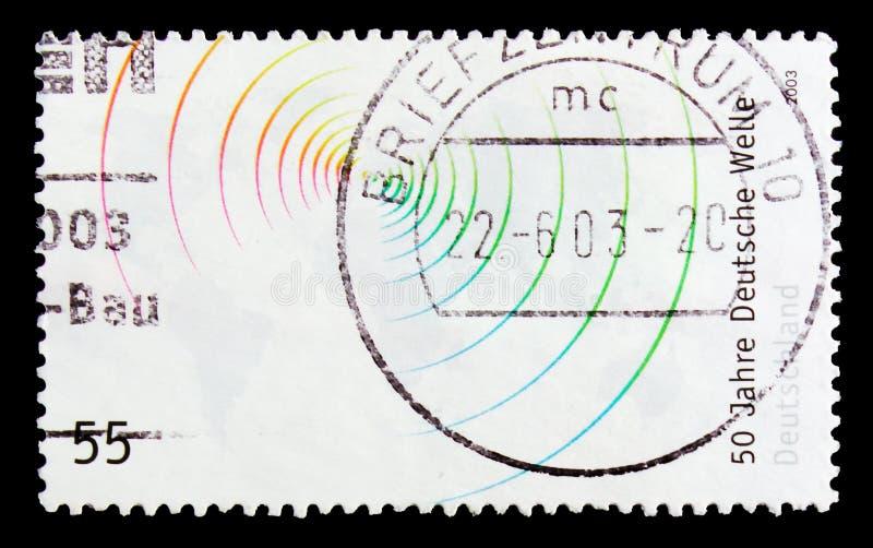 MOSCOU, RUSSIE - 21 OCTOBRE 2017 : Un timbre imprimé en allemand Fed photographie stock