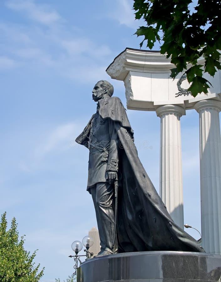 Moscou, Russie Un monument à l'empereur Alexandre II - au libérateur, une vue de côté image stock