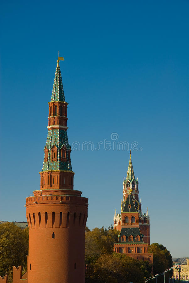 Moscou. Tours de Kremlin photo stock
