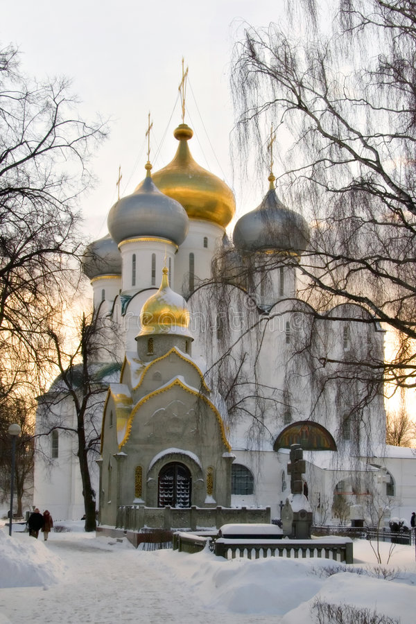 Moscou. Un déclin dans Novodevichij Monastyr photographie stock